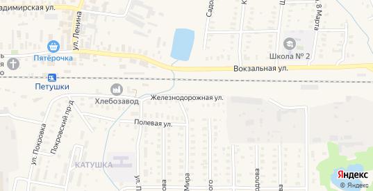 Железнодорожная улица в Петушках с номерами домов на карте. Спутник и схема онлайн