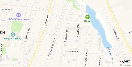 Восточная улица в Петушках с номерами домов на карте. Спутник и схема онлайн