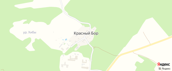 Улица Нижняя Дача на карте поселка Красного Бора Ярославская области с номерами домов