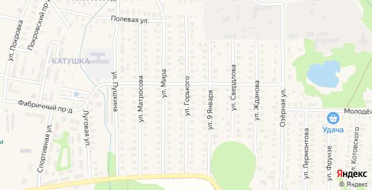 Улица Горького в Петушках с номерами домов на карте. Спутник и схема онлайн