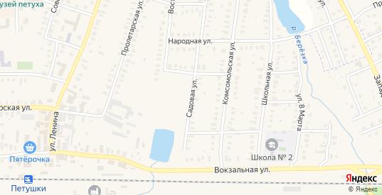 Садовая улица в Петушках с номерами домов на карте. Спутник и схема онлайн
