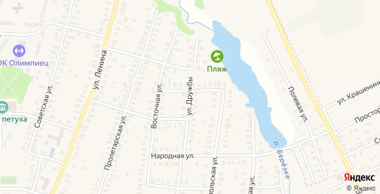 Улица Дружбы в Петушках с номерами домов на карте. Спутник и схема онлайн