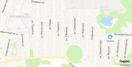 Улица 9 Января в Петушках с номерами домов на карте. Спутник и схема онлайн