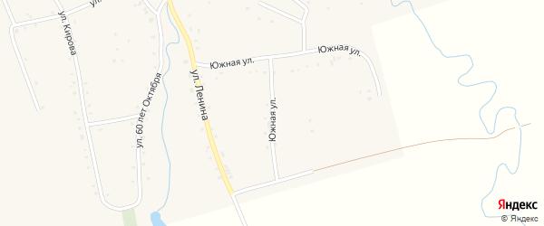 Южная улица на карте аула Ассоколая Адыгеи с номерами домов