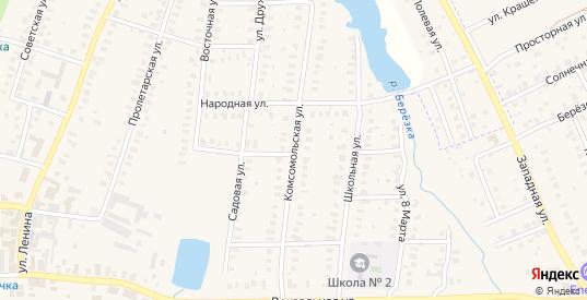 Комсомольская улица в Петушках с номерами домов на карте. Спутник и схема онлайн