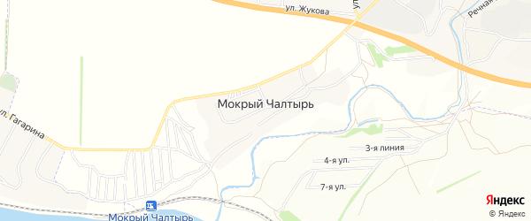 Карта хутора Мокрого Чалтыря в Ростовской области с улицами и номерами домов