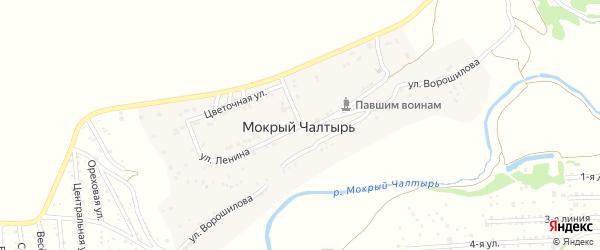 Улица Ленина на карте хутора Мокрого Чалтыря Ростовской области с номерами домов