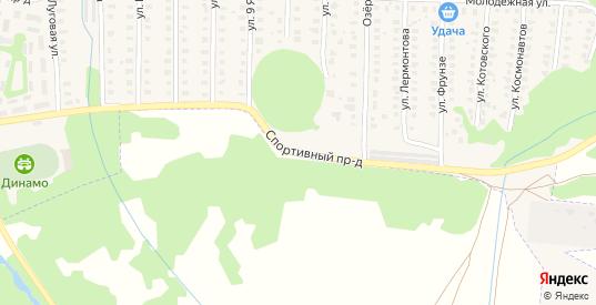 Спортивный проезд в Петушках с номерами домов на карте. Спутник и схема онлайн