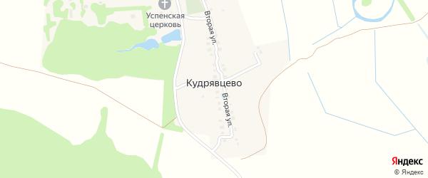 Третья улица на карте деревни Кудрявцево Владимирской области с номерами домов