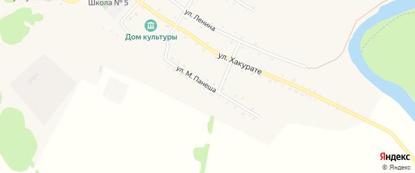 Улица М.Панеша на карте аула Кунчукохабля Адыгеи с номерами домов
