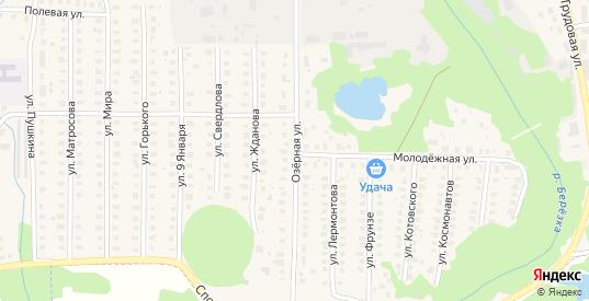 Озерная улица в Петушках с номерами домов на карте. Спутник и схема онлайн