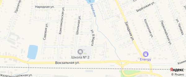 Улица 8 Марта на карте Петушков с номерами домов