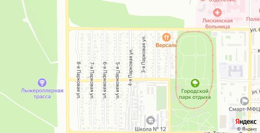 Парковая 4-я улица в Лисках с номерами домов на карте. Спутник и схема онлайн