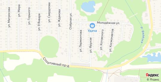 Улица Лермонтова в Петушках с номерами домов на карте. Спутник и схема онлайн