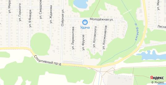 Улица Фрунзе в Петушках с номерами домов на карте. Спутник и схема онлайн