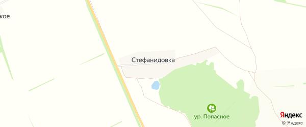 Карта хутора Стефанидовки в Воронежской области с улицами и номерами домов