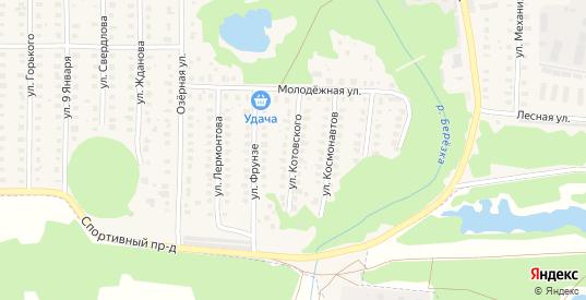 Улица Котовского в Петушках с номерами домов на карте. Спутник и схема онлайн
