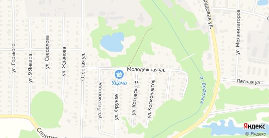 Молодежная улица в Петушках с номерами домов на карте. Спутник и схема онлайн