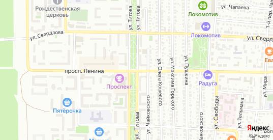 Улица Титова в Лисках с номерами домов на карте. Спутник и схема онлайн