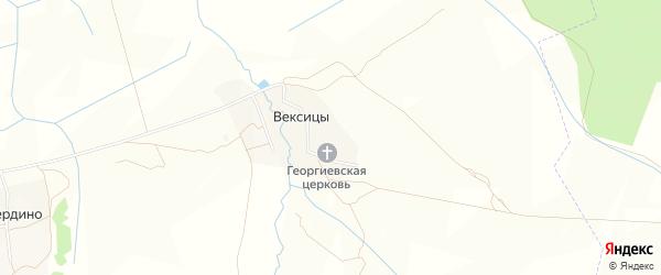Карта села Вексицы в Ярославская области с улицами и номерами домов