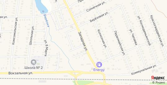Западная улица в Петушках с номерами домов на карте. Спутник и схема онлайн