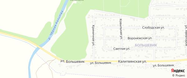 Криничная улица на карте Россоши с номерами домов