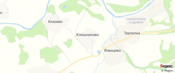Карта деревни Клюшниково в Вологодской области с улицами и номерами домов