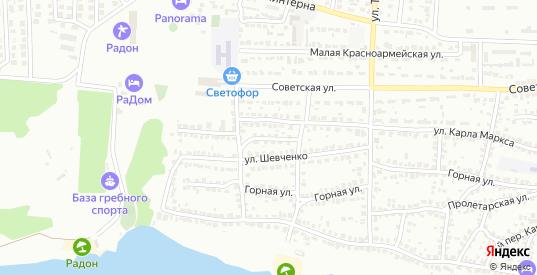 Переулок Шевченко в Лисках с номерами домов на карте. Спутник и схема онлайн
