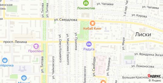 Проспект Ленина в Лисках с номерами домов на карте. Спутник и схема онлайн