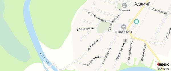 Улица Пушкина на карте Адамия аула Адыгеи с номерами домов