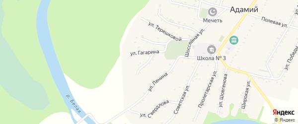 Улица Пушкина на карте Адамия аула с номерами домов
