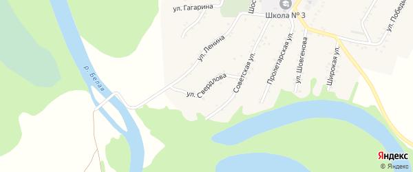 Улица Свердлова на карте Адамия аула Адыгеи с номерами домов