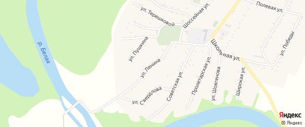 Улица Ленина на карте Адамия аула Адыгеи с номерами домов