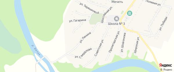 Улица Ленина на карте Адамия аула с номерами домов