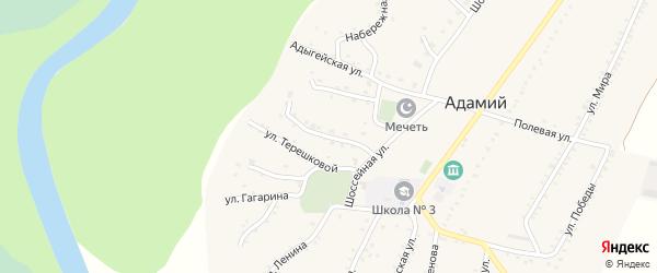 Улица им М.И.Кудаева на карте Адамия аула Адыгеи с номерами домов