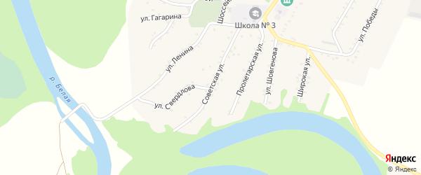 Советская улица на карте Адамия аула Адыгеи с номерами домов