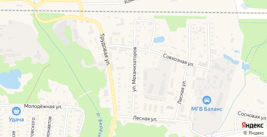 Улица Механизаторов в Петушках с номерами домов на карте. Спутник и схема онлайн