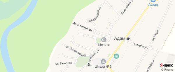 Улица Г.Читао на карте Адамия аула Адыгеи с номерами домов