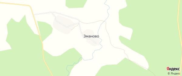 Карта деревни Зманово в Ярославская области с улицами и номерами домов