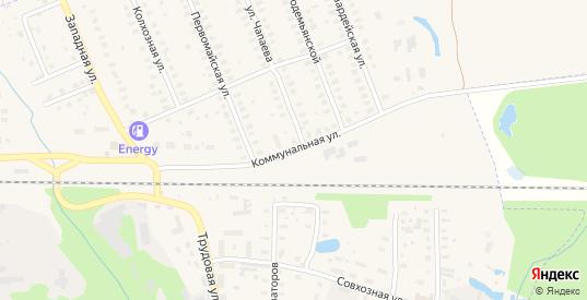 Коммунальная улица в Петушках с номерами домов на карте. Спутник и схема онлайн