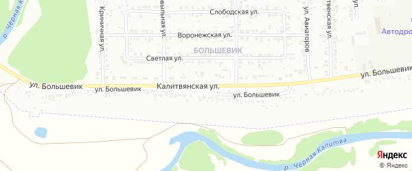 Калитвянская улица на карте Россоши с номерами домов