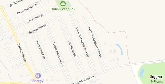 Улица Космодемьянской в Петушках с номерами домов на карте. Спутник и схема онлайн
