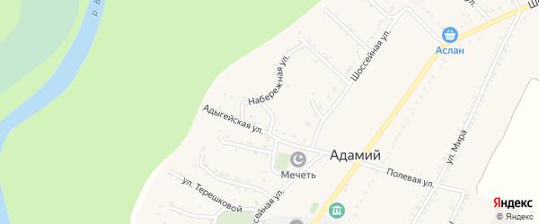 Улица Котовского на карте Адамия аула Адыгеи с номерами домов