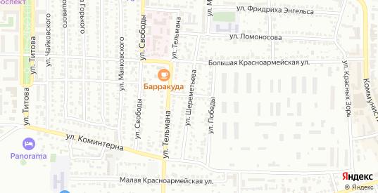 Улица Шереметьева в Лисках с номерами домов на карте. Спутник и схема онлайн