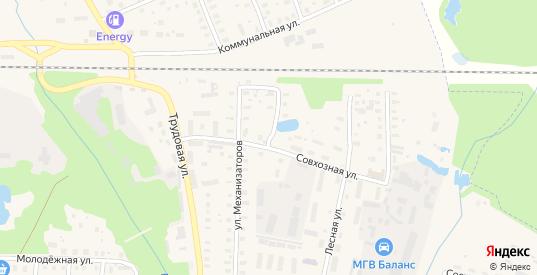 2-я Механизаторская улица в Петушках с номерами домов на карте. Спутник и схема онлайн