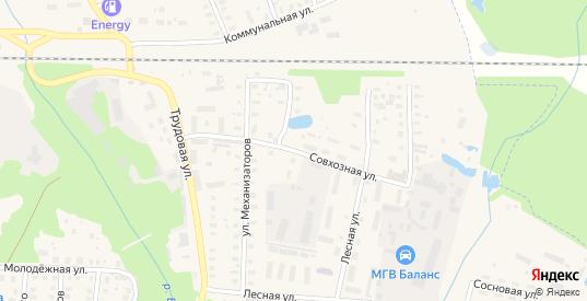 Совхозная улица в Петушках с номерами домов на карте. Спутник и схема онлайн