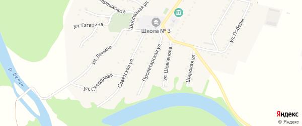 Пролетарская улица на карте Адамия аула Адыгеи с номерами домов