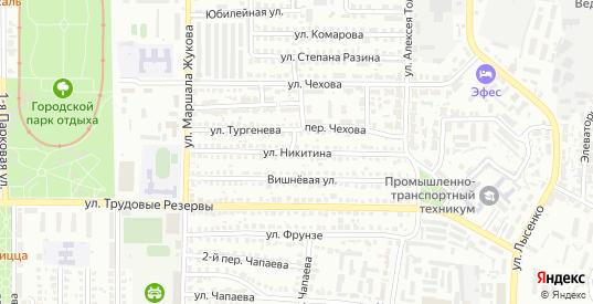 Улица Никитина в Лисках с номерами домов на карте. Спутник и схема онлайн