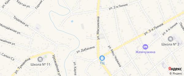 2-й тупик на карте села Крыма Ростовской области с номерами домов