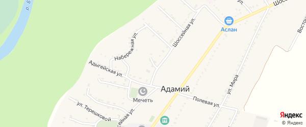 Комсомольская улица на карте Адамия аула Адыгеи с номерами домов